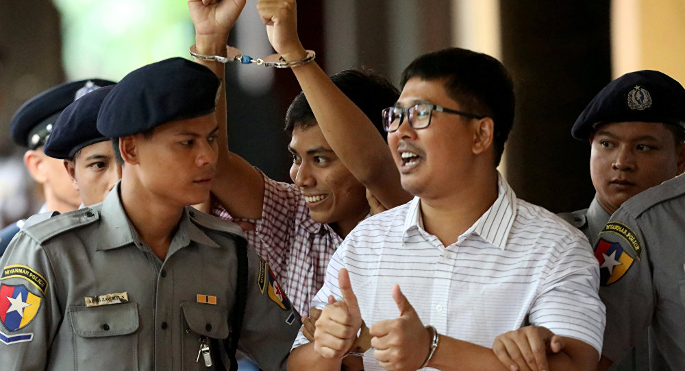 Los periodistas de Reuters condenados en Birmania