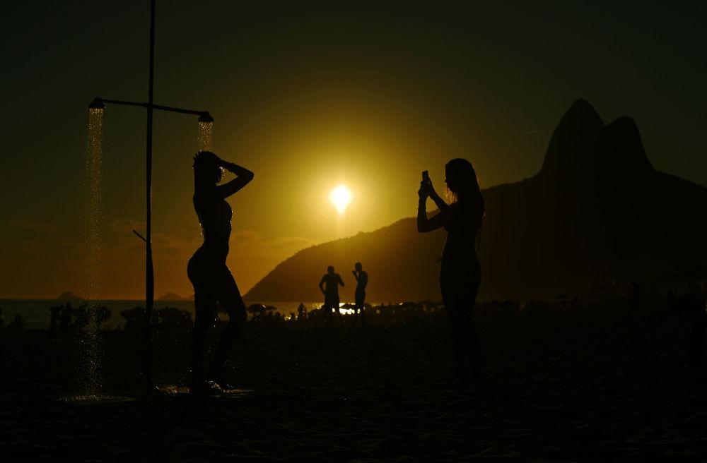 Una playa de Río de Janeiro