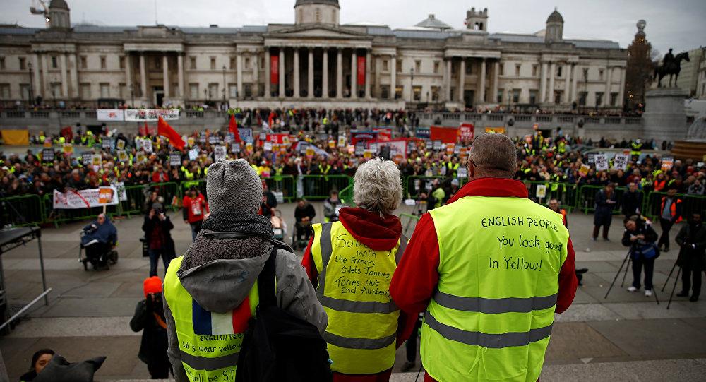 Los manifestantes en Londres