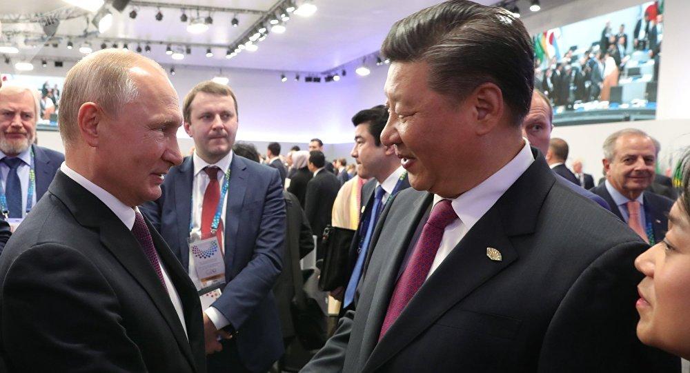 Vladímir Putin, presidente de Rusia, y Xi Jinping, líder chino