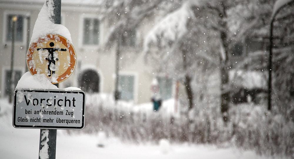 Fuertes nevadas en Alemania
