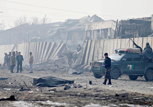 Lugar del ataque en Kábul, Afganistán