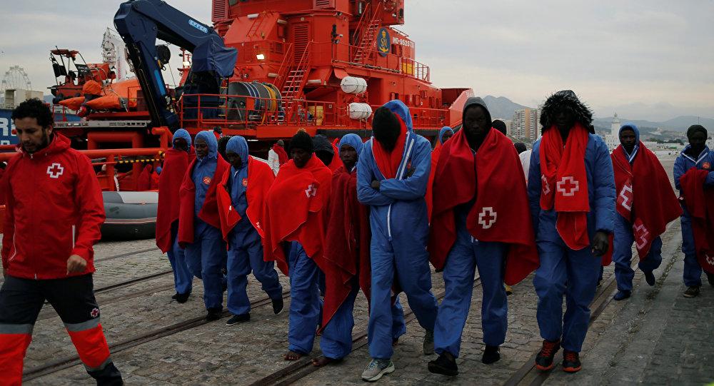 Llegada de los migrantes a España