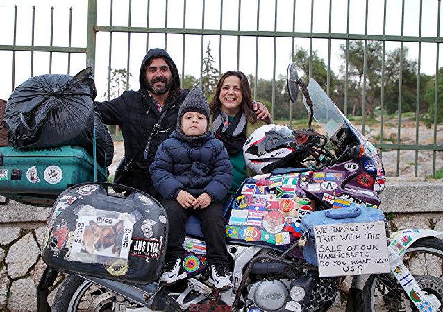 La familia argentina que viaja al mundo desde hace años