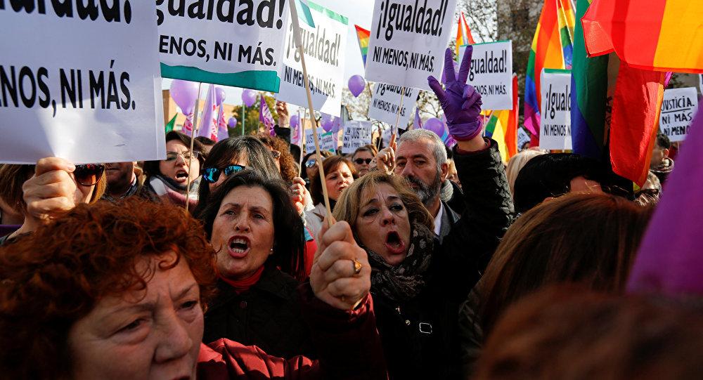 Manifestaciones feministas en España