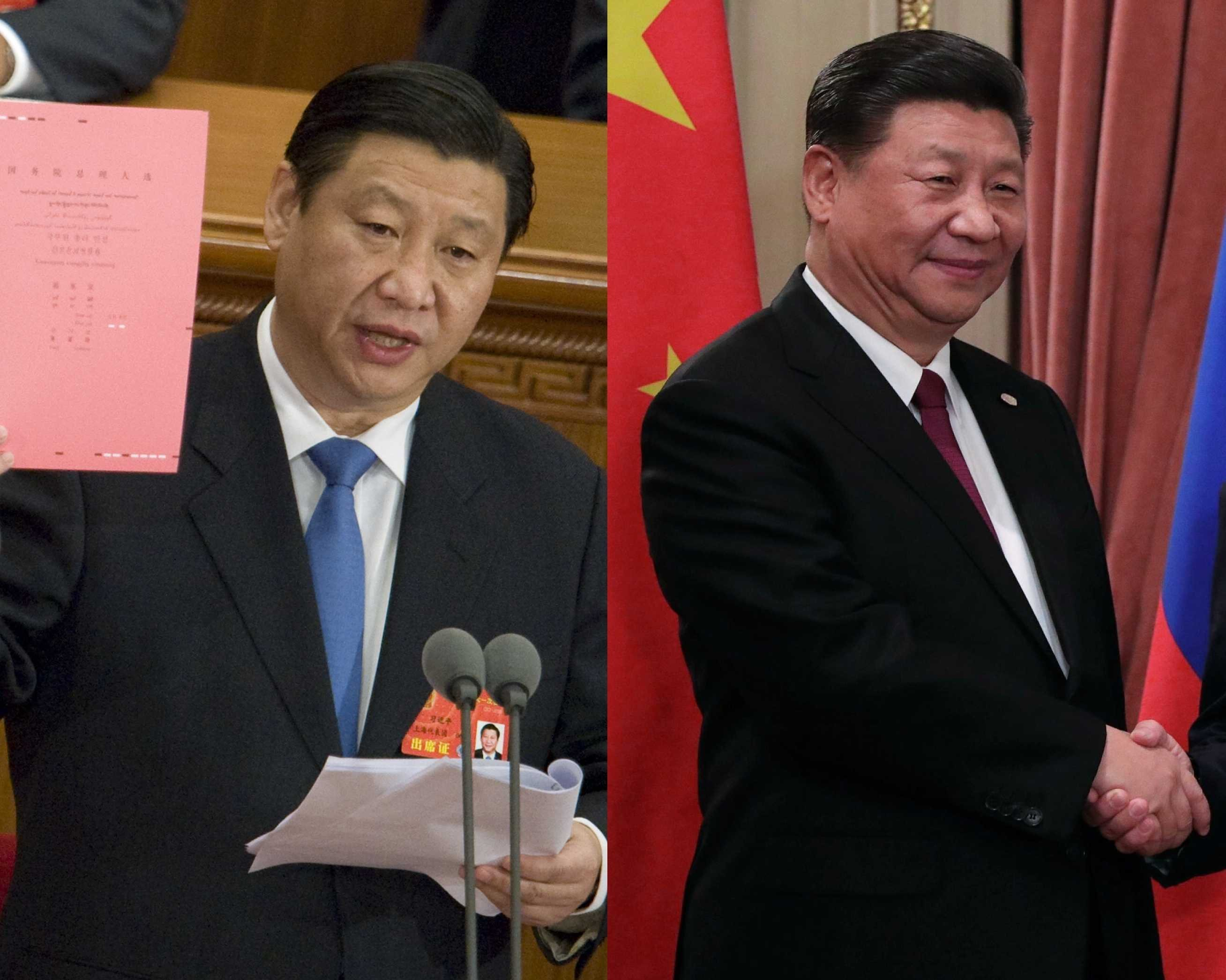 El actual presidente de China, Xi Jinping, en el 2008 / 2018