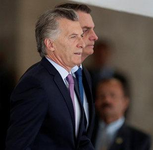 Mauricio Macri y Jair Bolsonaro, presidentes de Argentina y Brasil respectivamente