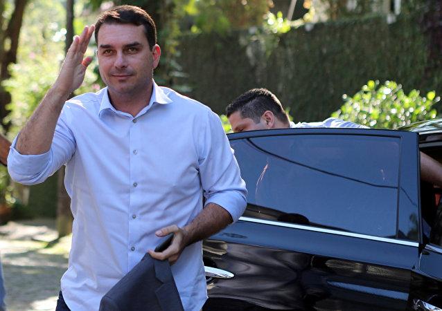 Flávio Bolsonaro, el hijo del presidente de Brasil, Jair Bolsonaro