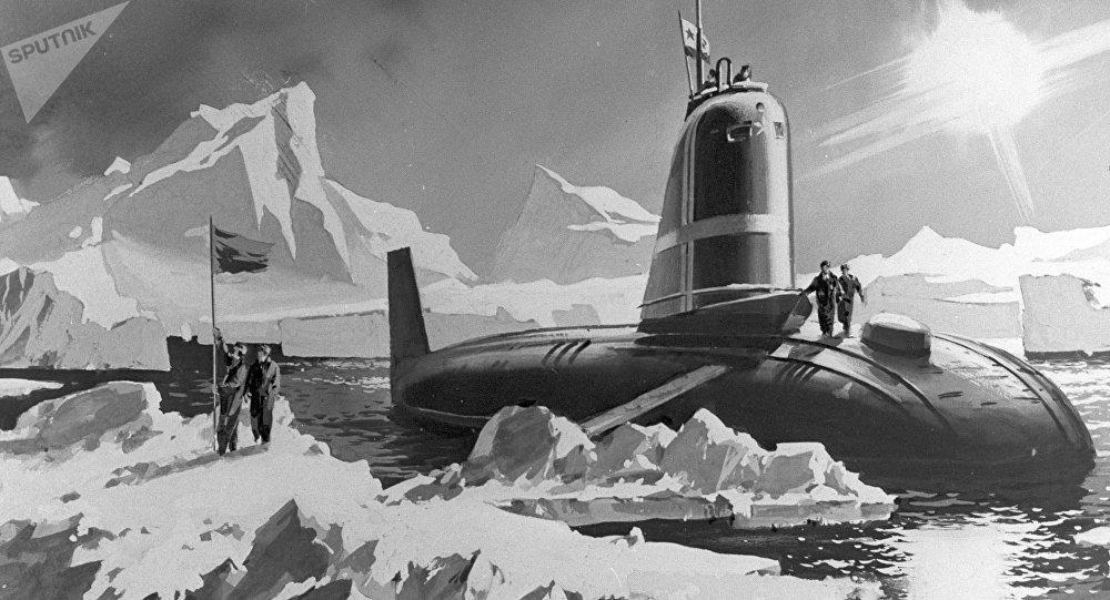 El submarino Leninski Komsomol