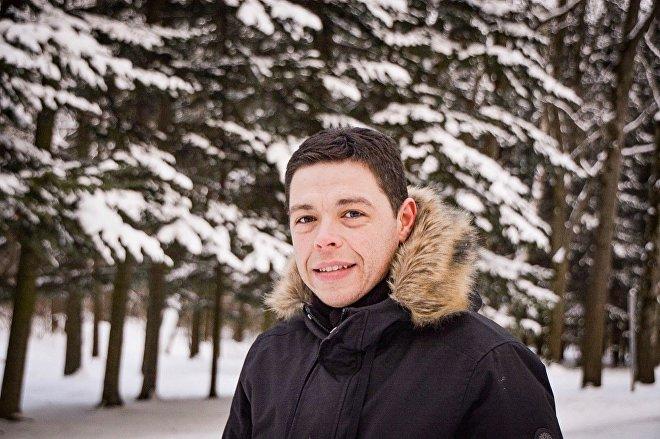 Fernando Zamora, estudiante argentino de la carrera en Televisión en la Universidad Kosygin de Moscú, becado por el Gobierno de Rusia