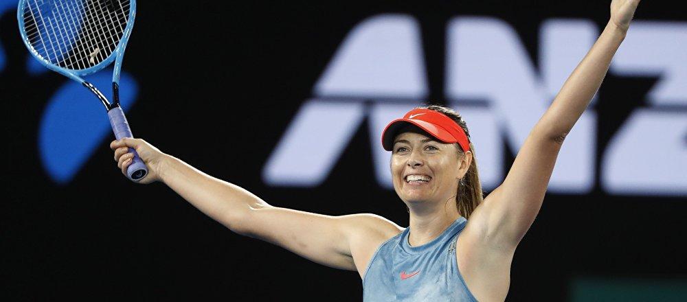 La tenista rusa María Sharápova en el Abierto de Australia
