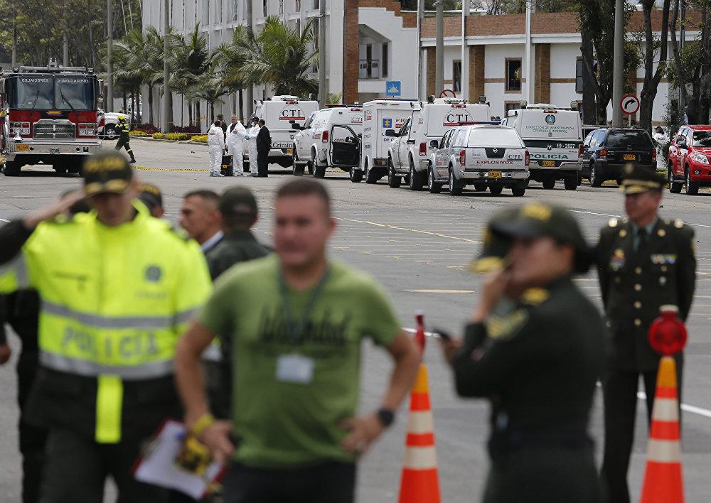 Atentado en Bogotá: imágenes desde el lugar de la tragedia