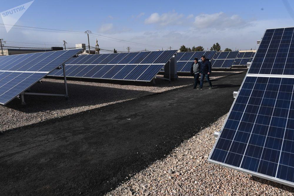 La primera planta de energía solar de Siria vuelve a funcionar