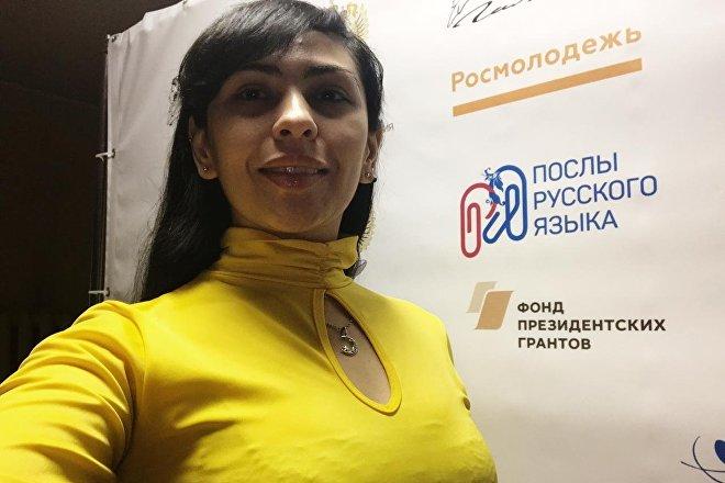 Natalí Agüero, estudiante argentina de maestría en el Instituto Pushkin de Moscú gracias a las becas ofrecidas por el Gobierno de Rusia