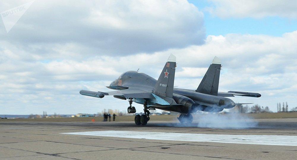 Un caza ruso Su-34