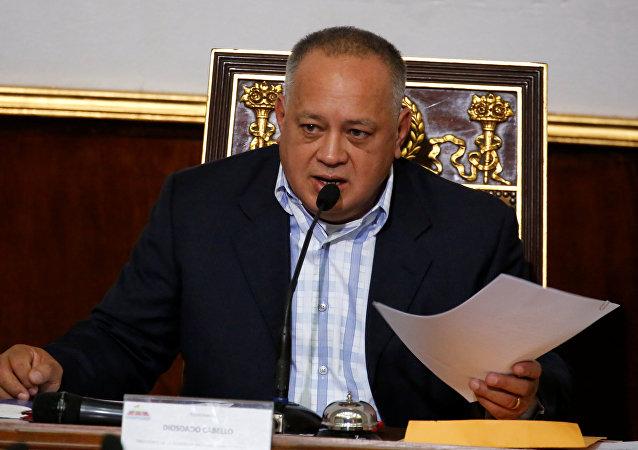 Diosdado Cabello, presidente de la Asamblea Nacional Constituyente de Venezuela (arrchivo)