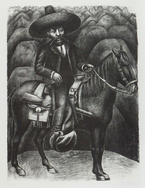 Emiliano Zapata, de David Alfaro Siqueiros, obra integrante de la 'Exposición Pendiente'.