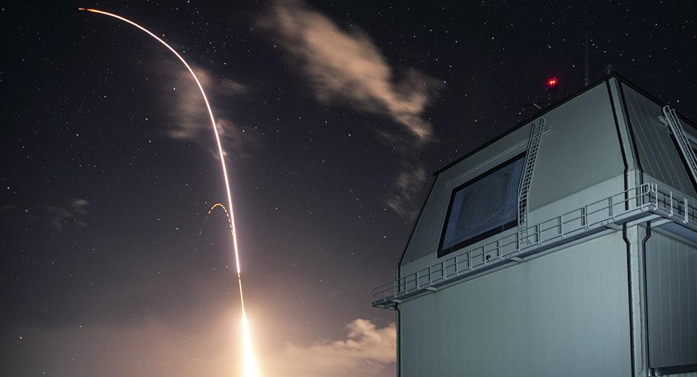 Prueba del sistema de defensa antimisiles estadounidense Aegis (archivo)