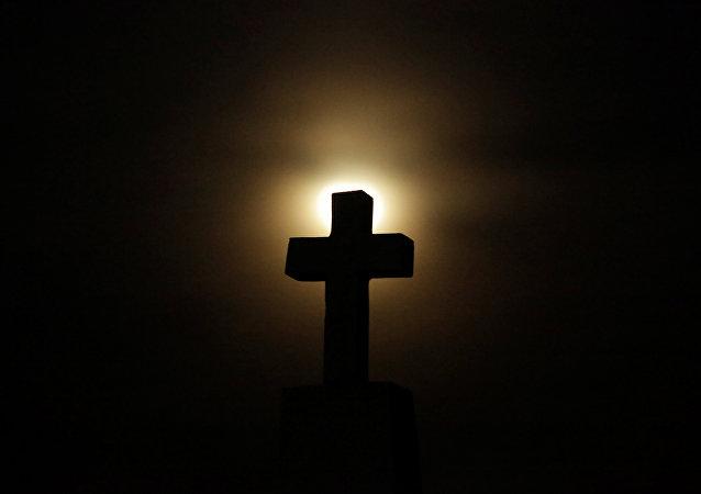 Eclipse lunar en la ciudad de Juarez, México