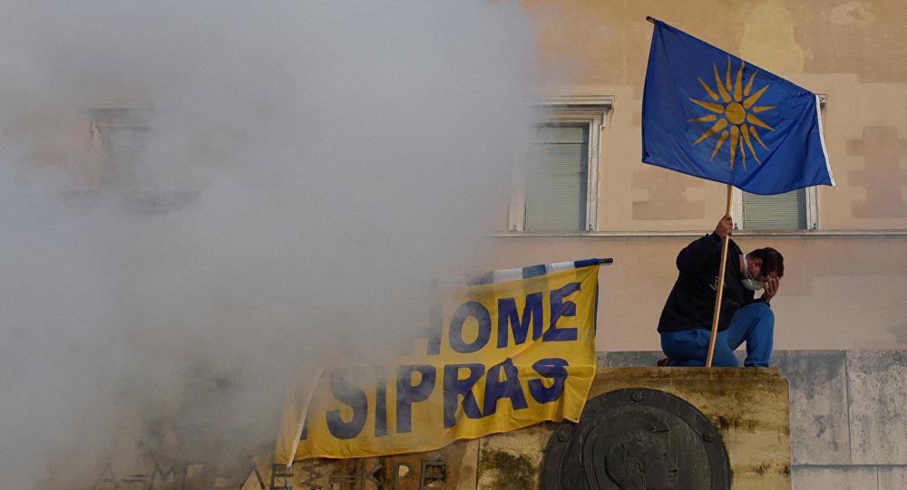 Protestas en Grecia contra el cambio del nombre de Macedonia