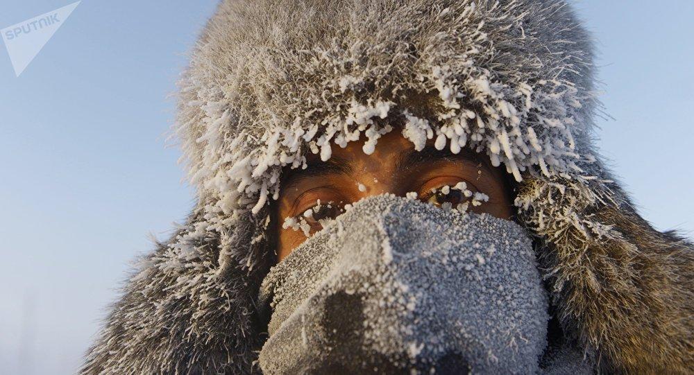 Una persona en Oimiakón