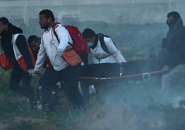 Médicos en la Franja de Gaza