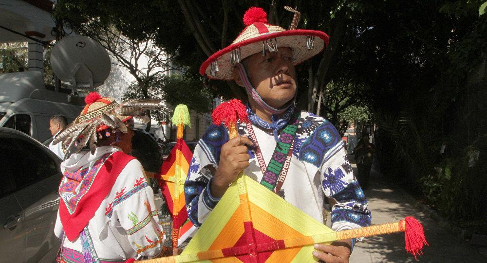 Representantes de comunidades indígenas en Ciudad de México