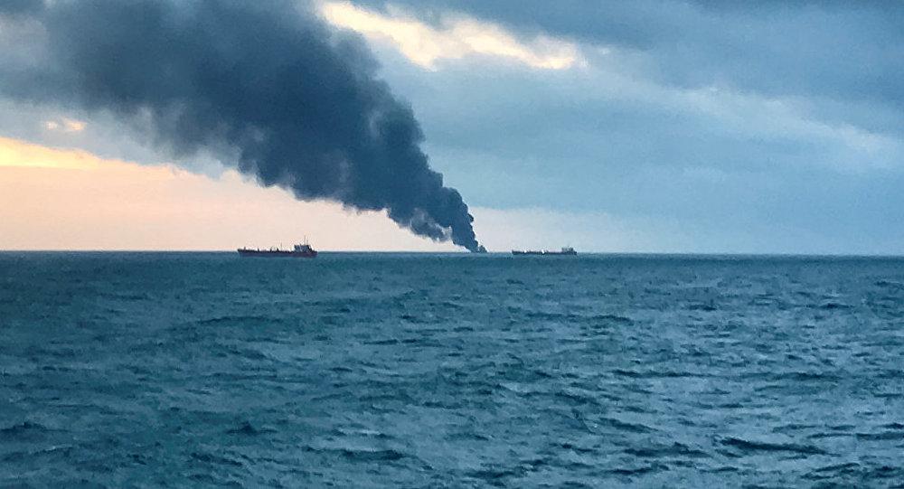 El incendio de buques en el mar Negro