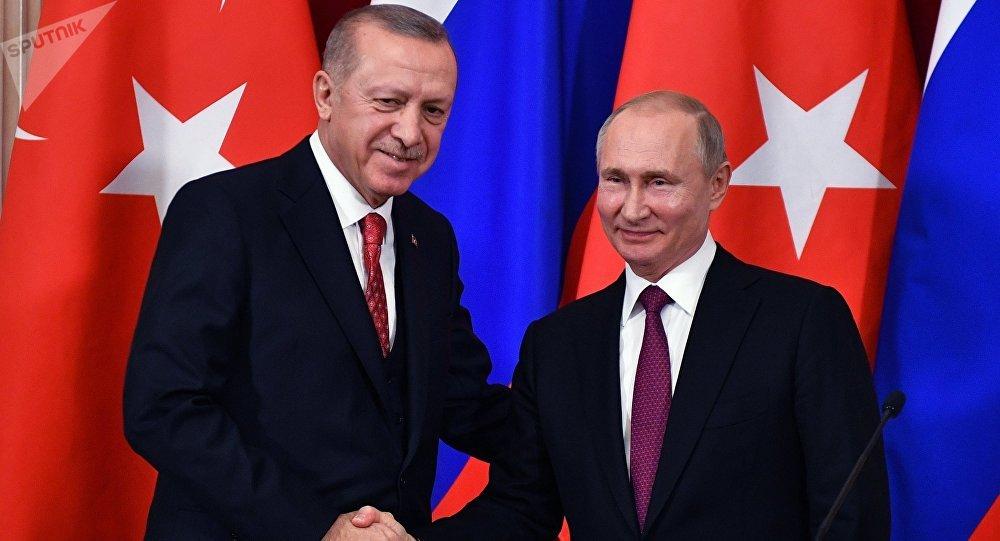El presidente de Turquía, Recep Tayyip Erdogan, y el presidente de Rusia, Vladímir Putin