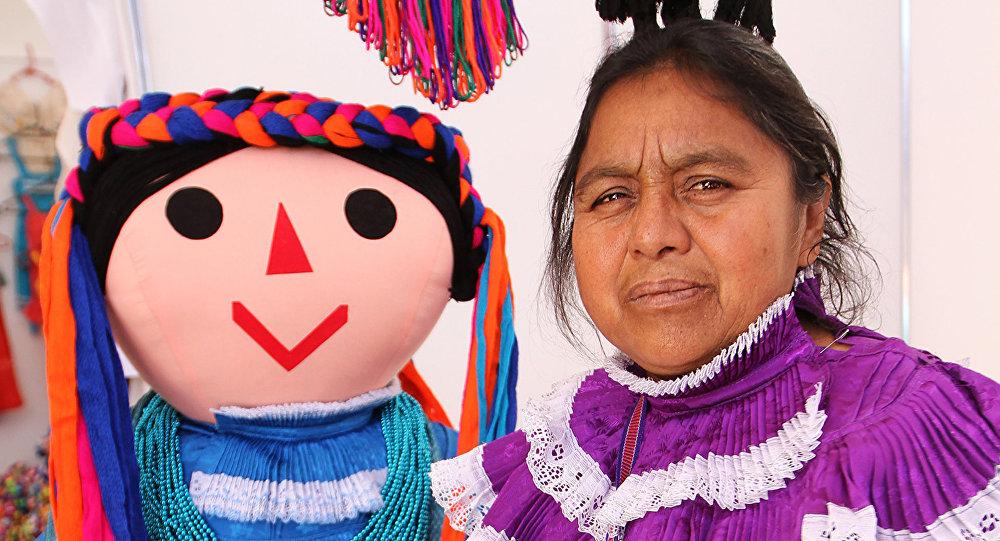 Una mujer indígena en Ciudad de México