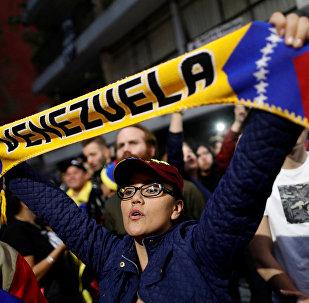 Protestas a favor de la oposición venezolana