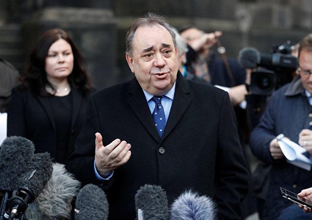 Alex Salmond, ex primer ministro de Escocia