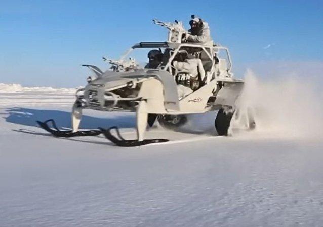 Versión ártica del buggy militar ruso Chaborz