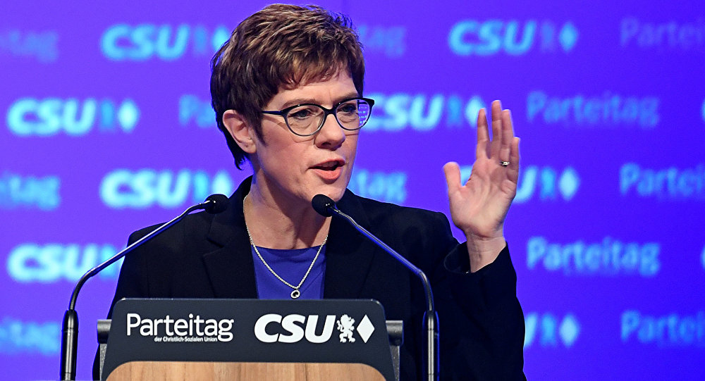 Annegret Kramp-Karrenbauer, nueva líder de la Unión Demócrata Cristiana de Alemania (CDU)