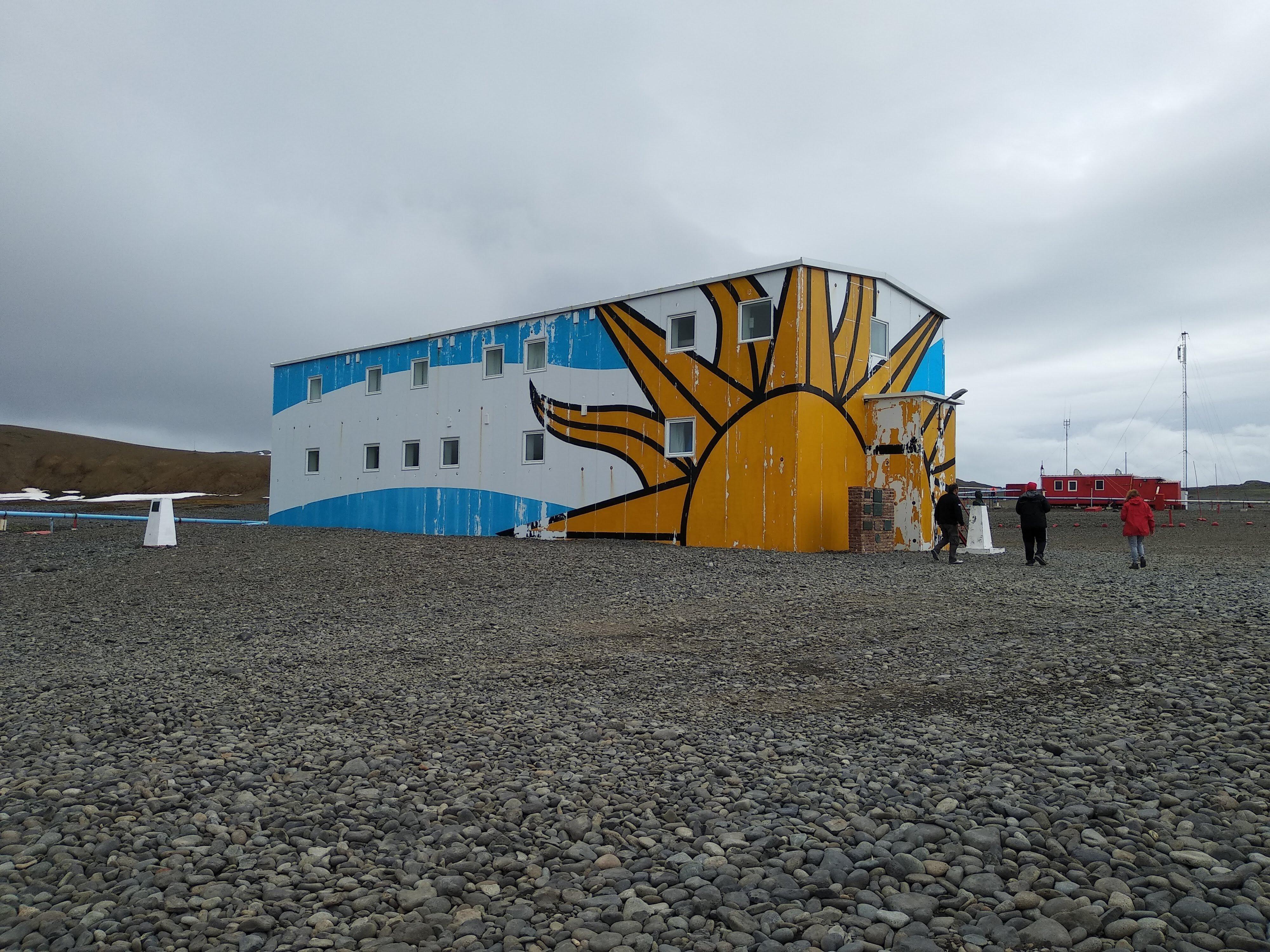 Base Científica Antártica Artigas, en la Isla Rey Jorge, en la Antártida