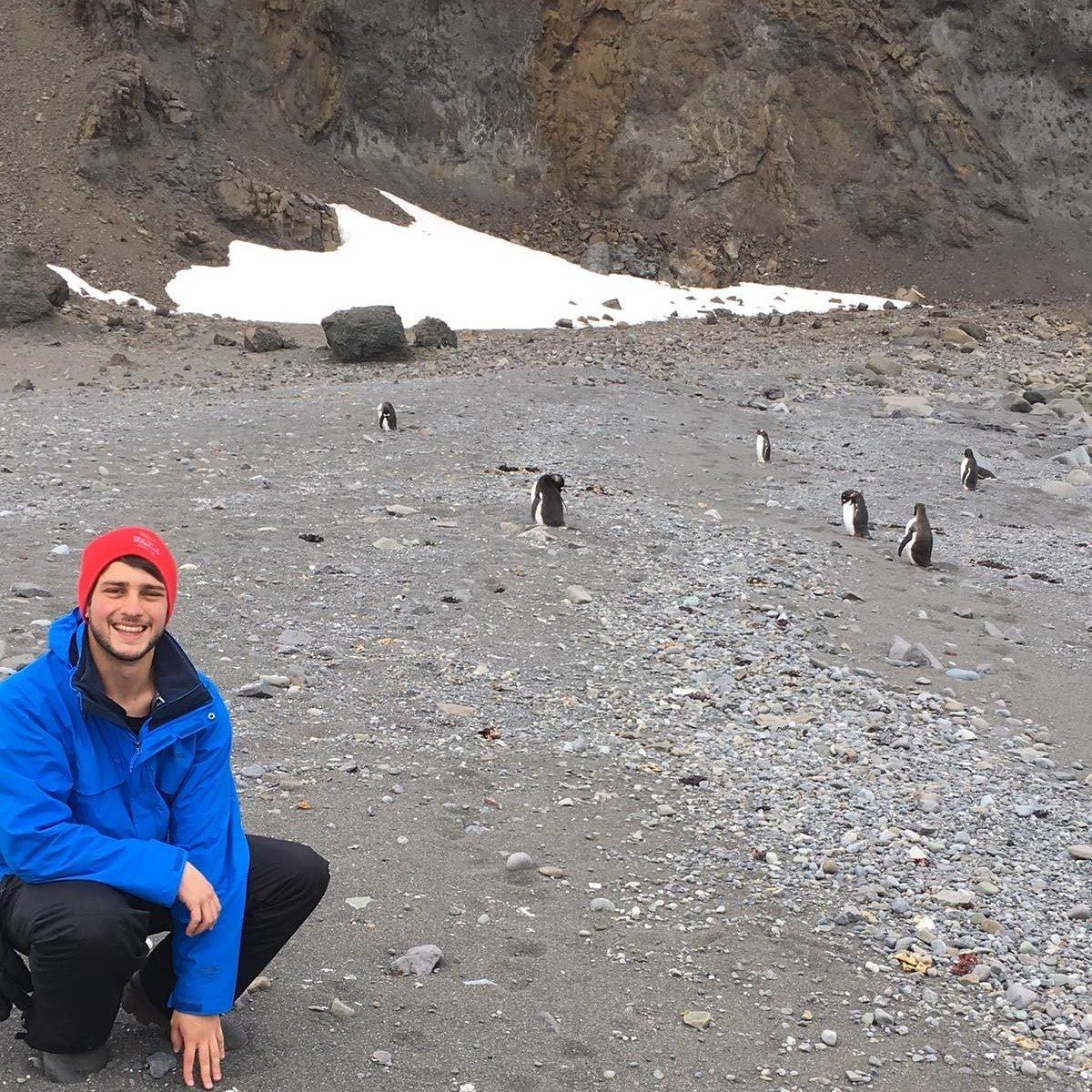 Franco Laureano en la Antártida
