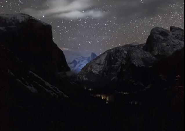 Una tormenta revela la 'belleza celestial' del parque Yosemite