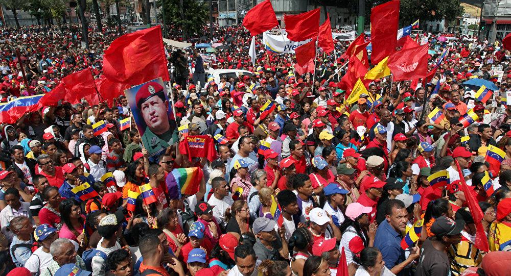 Una manifestación en apoyo a Nicolás Maduro en Venezuela (archivo)