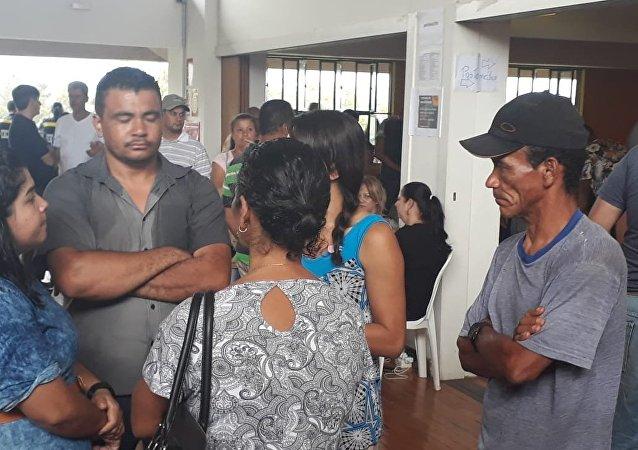 Familiares de las víctimas en Brumadinho