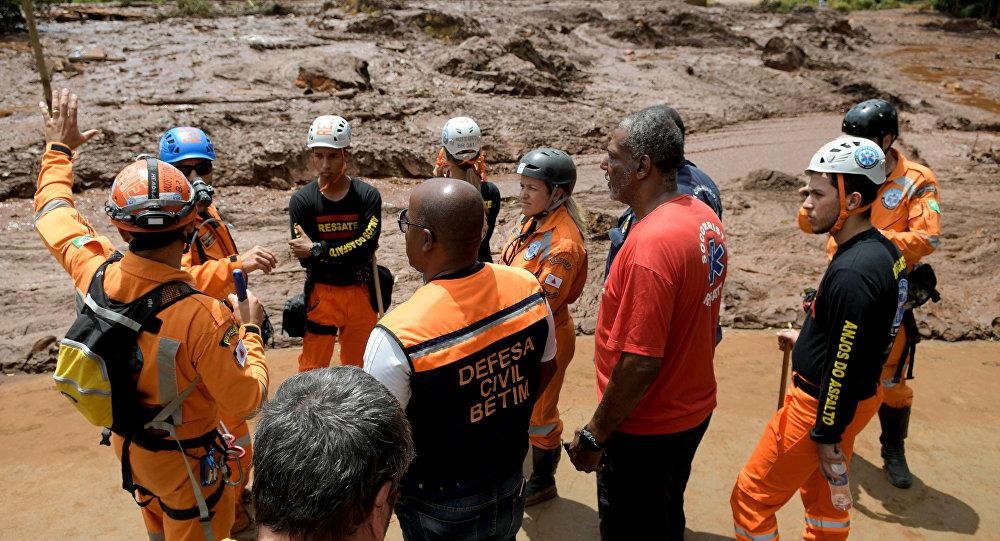 Búsqueda de víctimas en la región de Brumadinho