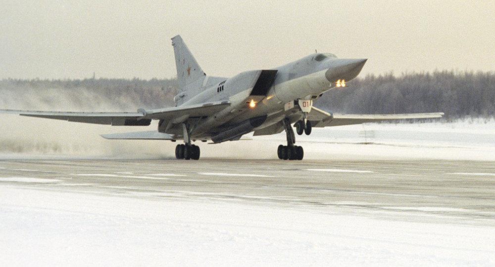 Un bombardero supersónico ruso Tu-22M3 (archivo)