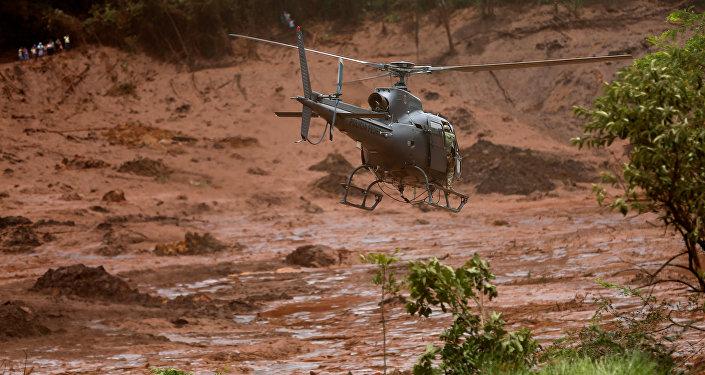Búsqueda de víctimas en la región de Brumadinho, Brasil