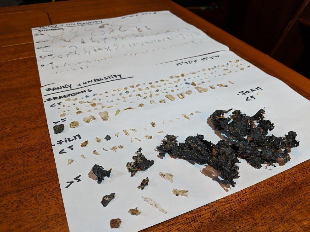 Parte de la basura recolectada por Unplastify en su viaje