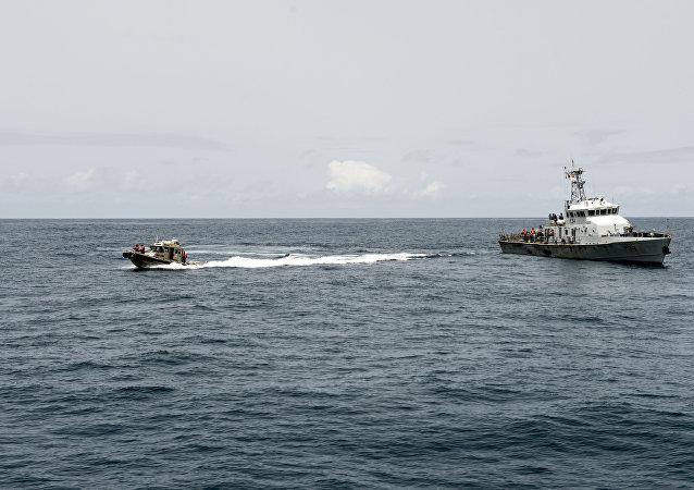 Barcos en el golfo de Guinea (imagen referencial)