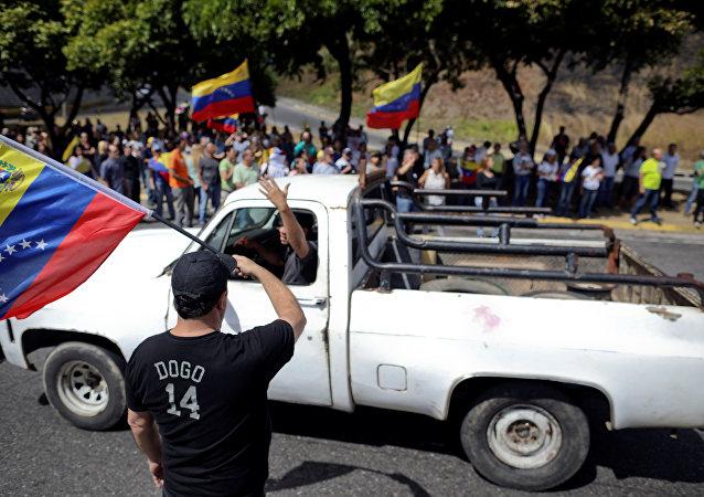 Protesta de la oposición en Caracas