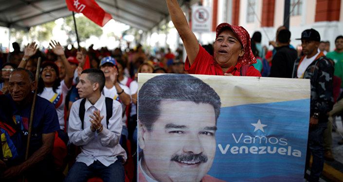 Movilización de partidarios de Nicolás Maduro en Caracas