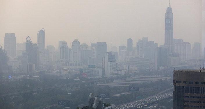 Esmog en Bangkok, la capital de Tailandia