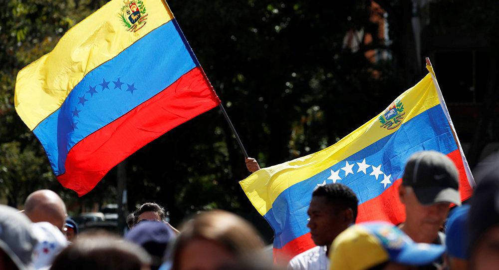 Las banderas de la oposición venezolana en las protestas