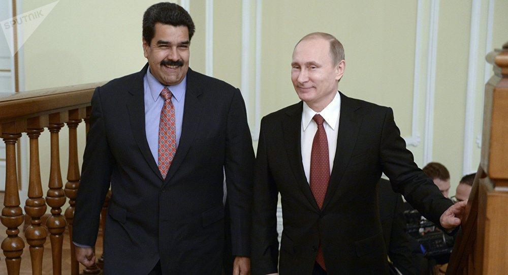 El presidente de Venezuela, Nicolás Maduro, junto a su homólogo ruso, Vladímir Putin (archivo)