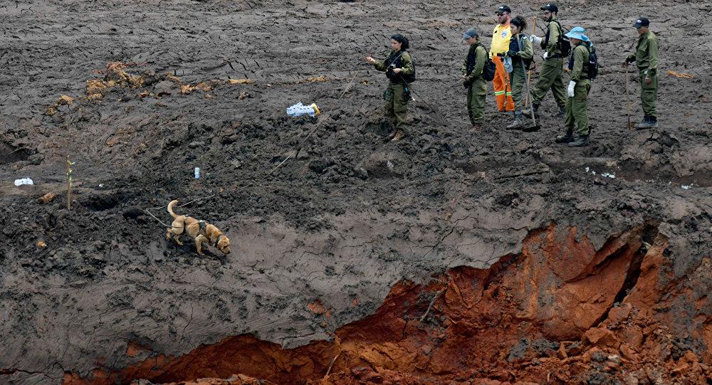 Militares israelíes durante la búsqueda de víctimas en la región de Brumadinho, Brasil